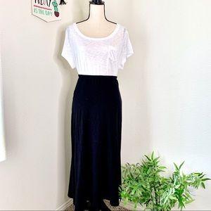 J.Jill black maxi skirt